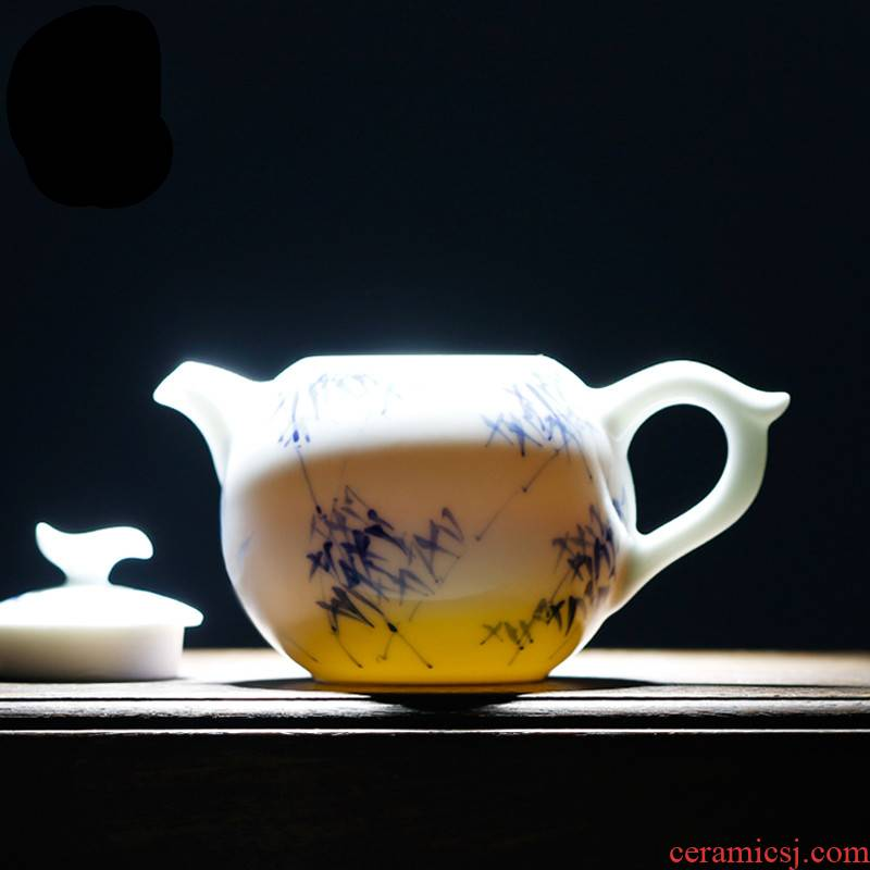 . Poly real boutique scene. Jingdezhen ceramic teapot do kung fu tea set under glaze color porcelain mini tea
