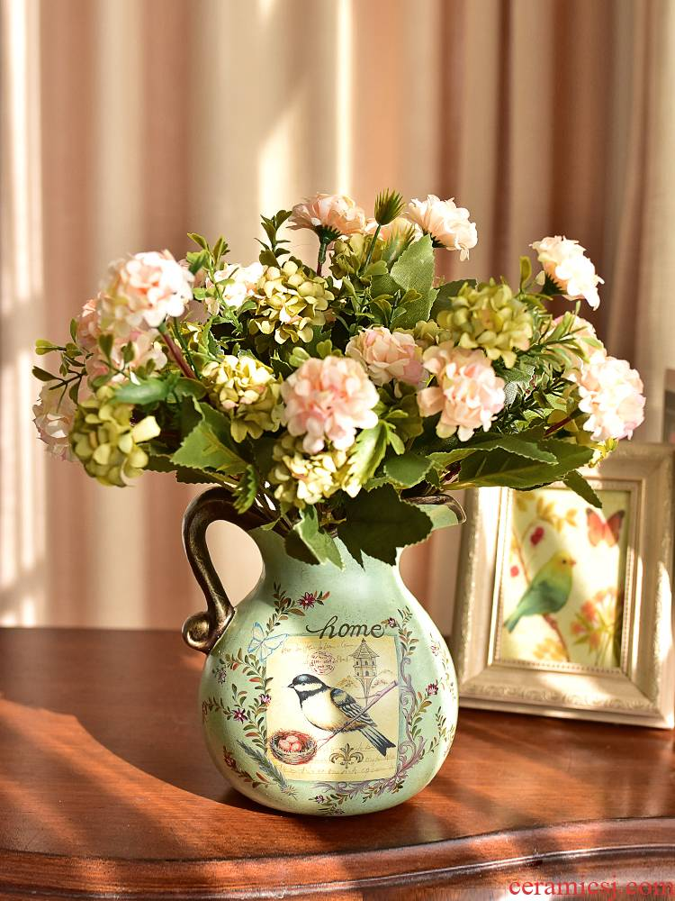 American ceramic furnishing articles European living room table floret bottle of flower arranging, TV ark, wine home decoration decoration