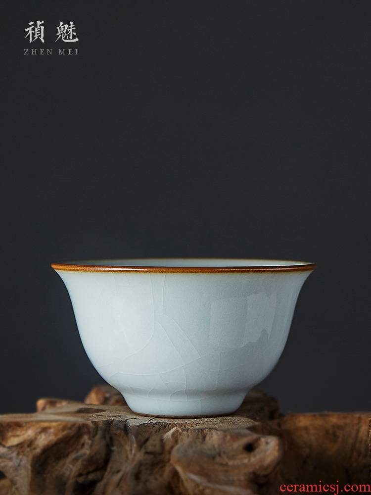Jingdezhen all hand to open the slice your up ceramic cups kung fu tea set for its ehrs master cup single CPU individual sample tea cup