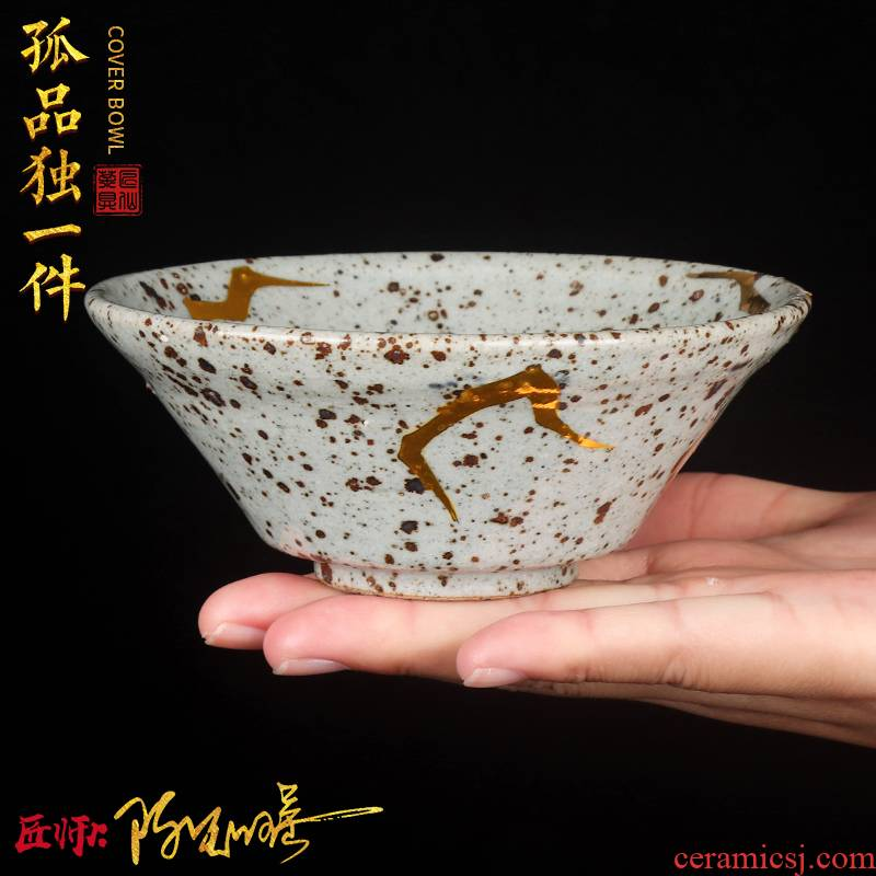 Artisan fairy orphan works hand made perfectly playable cup master cup ceramic point Jin Gongfu cup tea cup sample tea cup