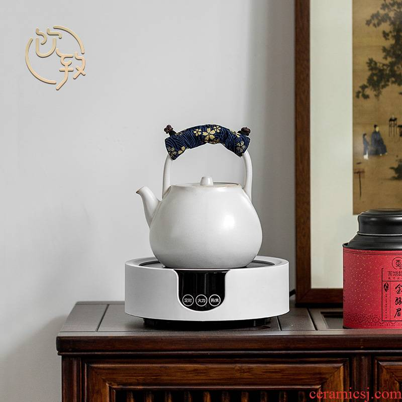 Ultimately responds to the ceramic cooking pot suit household water jug kettle teapot TaoLu boiled tea stove high - capacity tea set