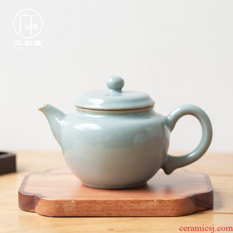 The three frequently your up with jingdezhen ceramic teapot kung fu tea teapot can open piece of xi shi pot filtering level