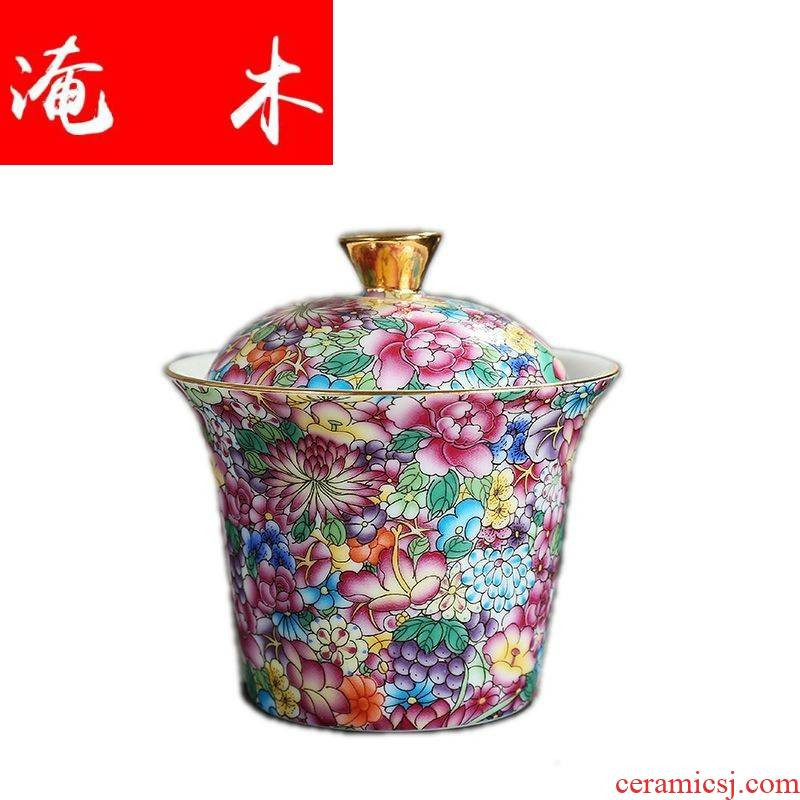 Submerged wood creative tureen tea flower is a pot of gold base three cups porcelain crack cup travel suit cups