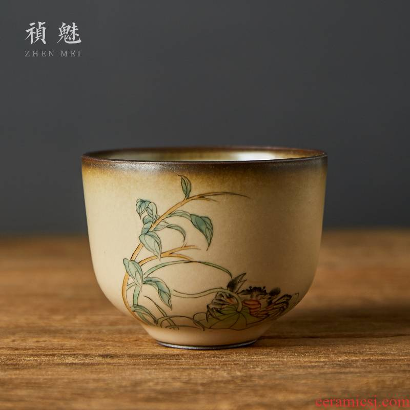 Jingdezhen your up to open the slice hand - made ceramic cups kung fu tea set for its ehrs personal cup master cup single cup sample tea cup