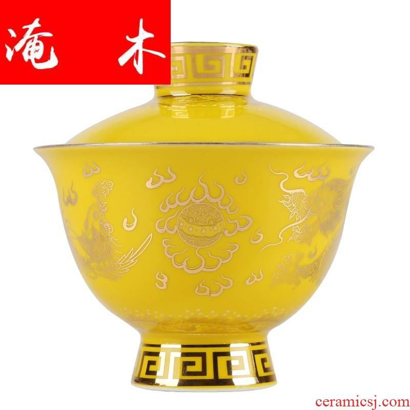 Submerged wood jingdezhen porcelain enamel craft coppering. As silver tureen sterling silver 999 only three big kung fu tea tea bowl