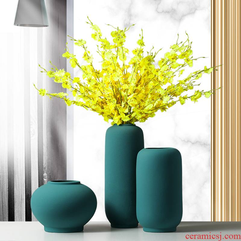 Light and decoration vase dried flower adornment is placed in the sitting room is contracted and I household table creative Nordic ceramic bottle arranging flowers