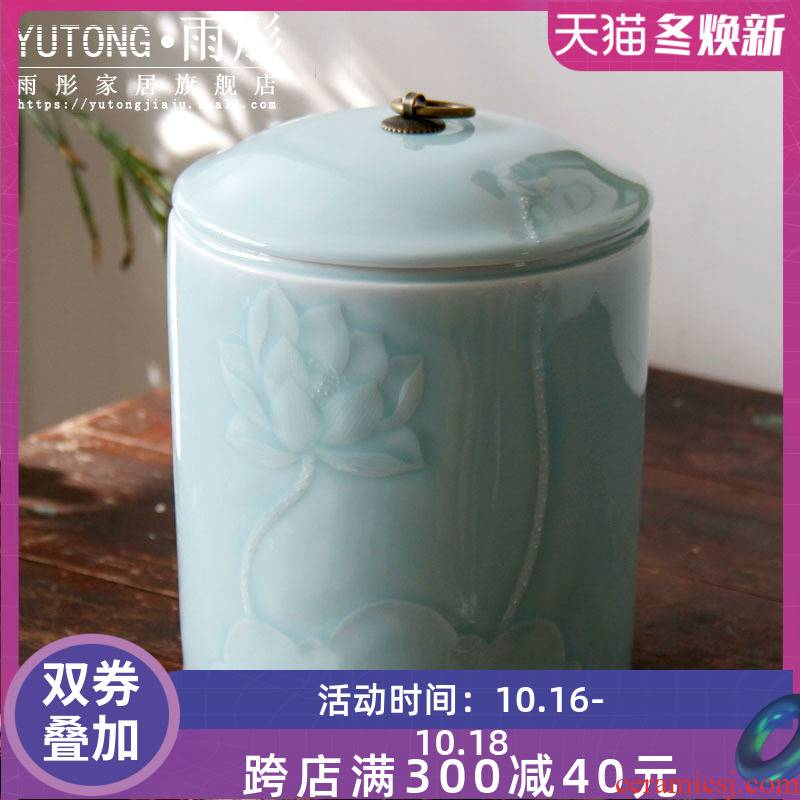 Jingdezhen ceramic checking caddy fixings ceramic pot receives a clay pot - storage POTS and POTS furnishing articles