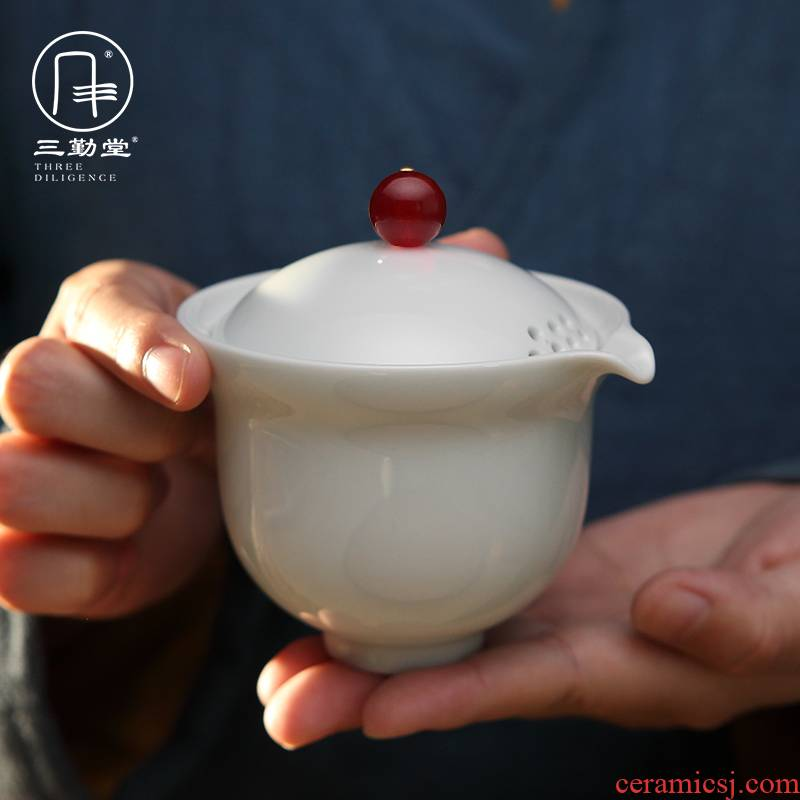 Three frequently crack cup portable travel cups kung fu tea set # suits for of jingdezhen ceramic BeiYing black pot two cups