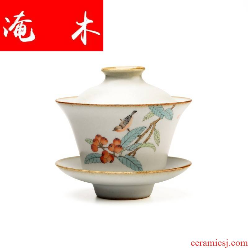 Flooded your up hand - made wood only three tureen kung fu tea cups slicing can raise jingdezhen checking ceramic three mercifully Taiwan mercifully