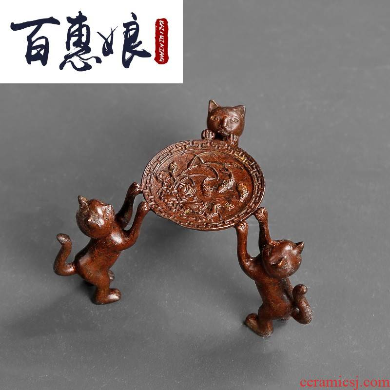 (niang GaiWanCha lid doesn it cover bracket cover household kung fu tea set fittings contracted pot pot holder