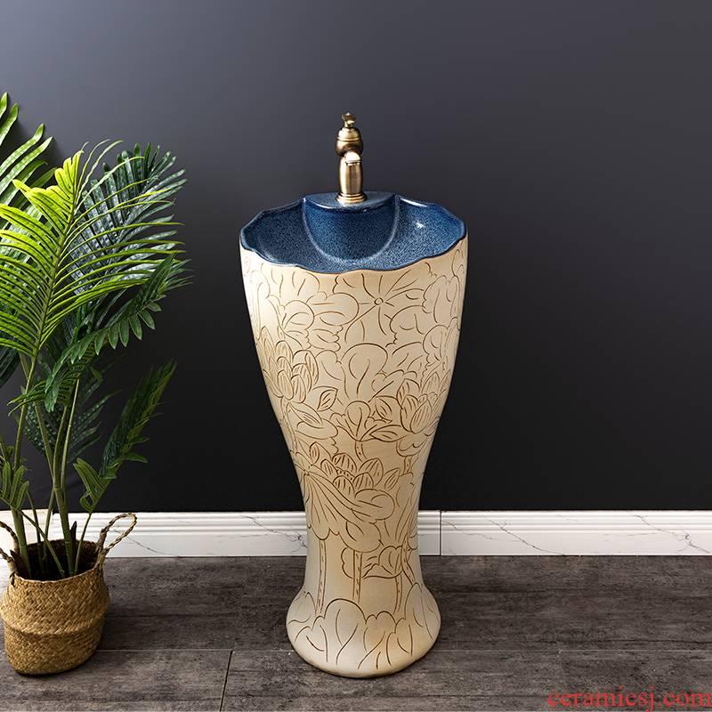 Ceramic basin floor balcony is suing the lavatory retro column pillar household toilet lavabo, 11