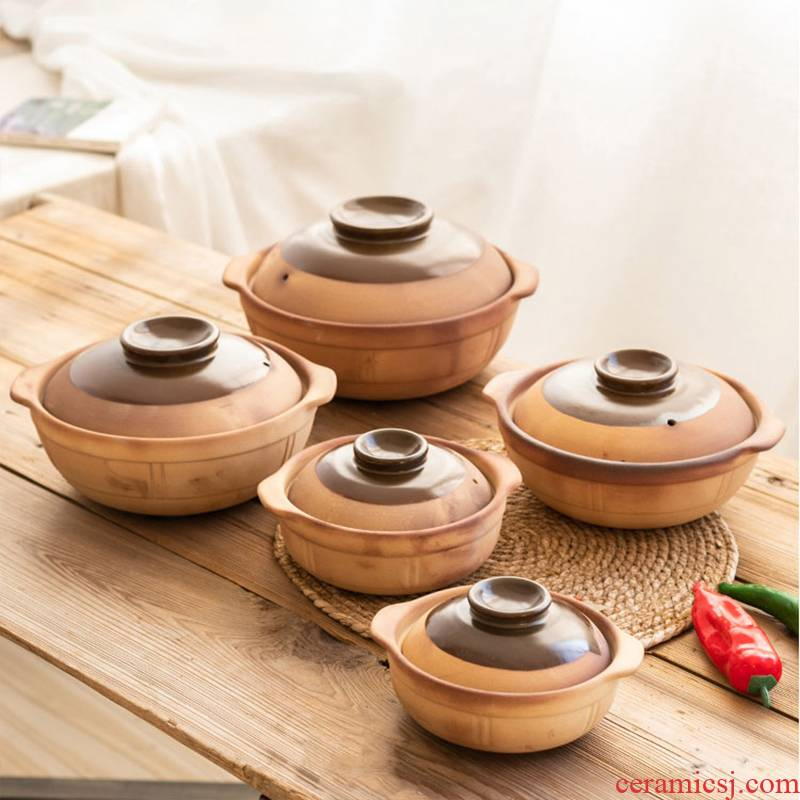 Old clay pot soup home soup rice special gas flame to hold to high temperature ceramic casserole stew pot soup pot