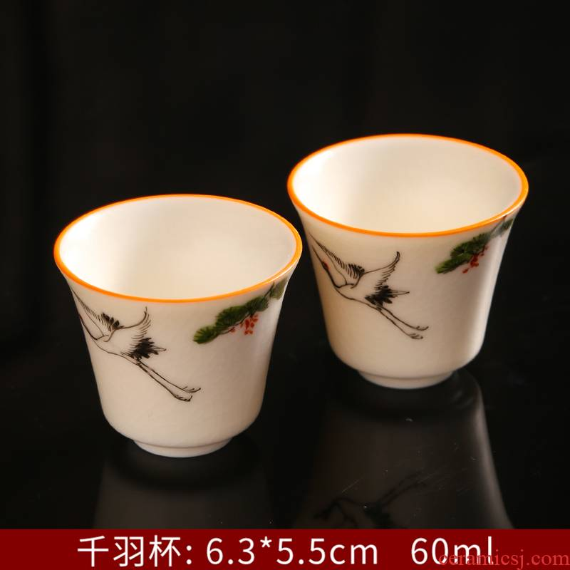 Can raise hand draw archaize every open your up kung fu tea masters cup single glass ceramic cups sample tea cup