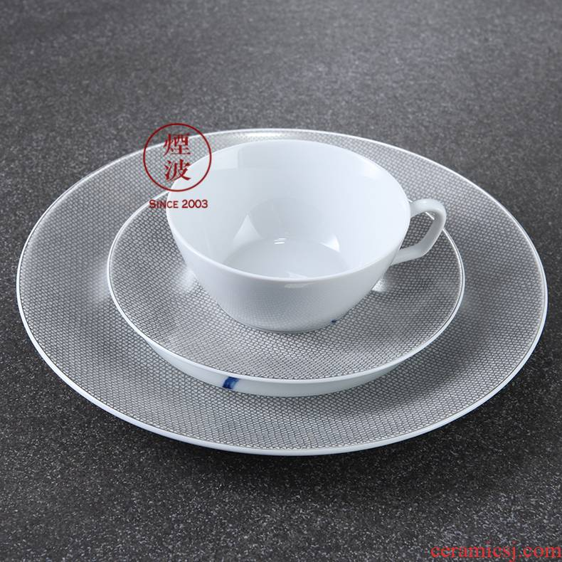 German mason mason meisen porcelain grid platinum keller orchid coffee cup group, a glass of two plates