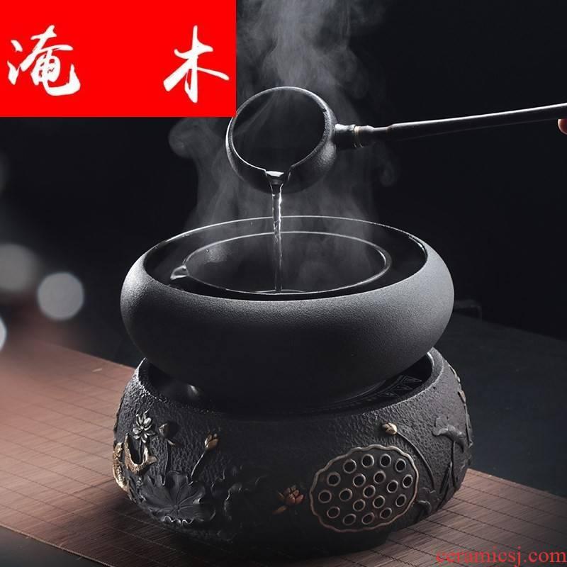 Submerged ceramic cooking bowl suit the wooden tea boiled tea, the electric TaoLu kung fu tea tea stove temperature tea bowl of tea ware