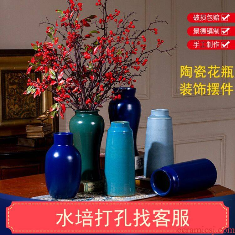 The New modern art ceramic vases, the sitting room is contracted style decorative pot custom hydroponic the plants dried flowers light of key-2 luxury