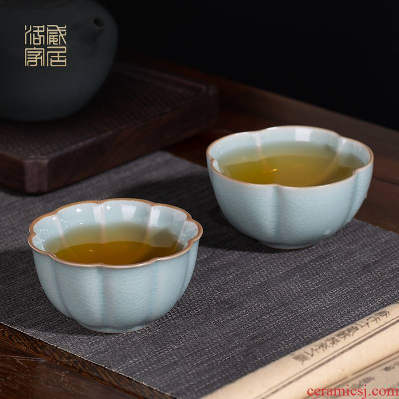 And your up with azure was slicing can raise jingdezhen ceramic cups kung fu masters cup sample tea cup single CPU