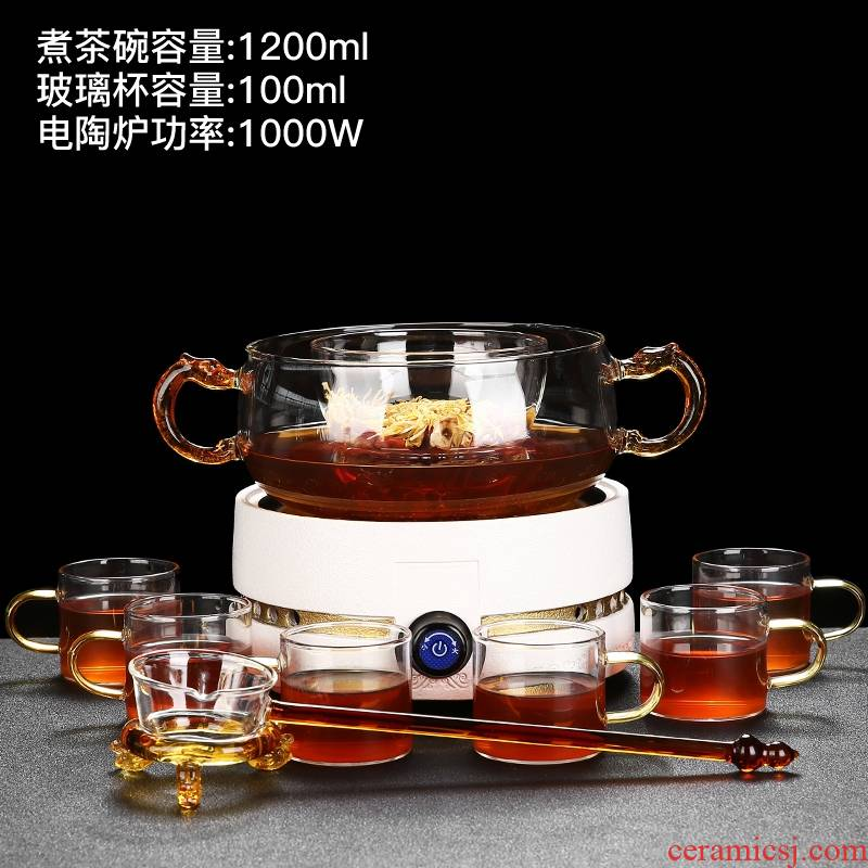 Rong han ceramics boiling tea machine electricity TaoLu suit automatically disconnect steaming tea glass teapot small household utensils