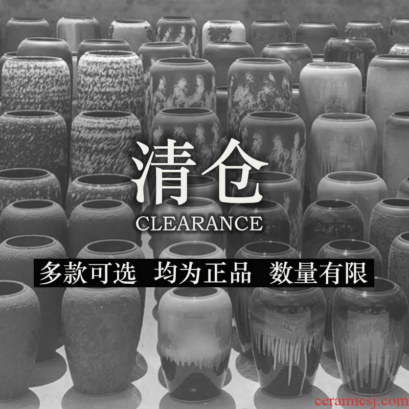 Clearance of large ground vase restoring ancient ways dried flower arranging flowers sitting room courtyard garden furnishing articles flowers exchanger with the ceramics decoration decoration