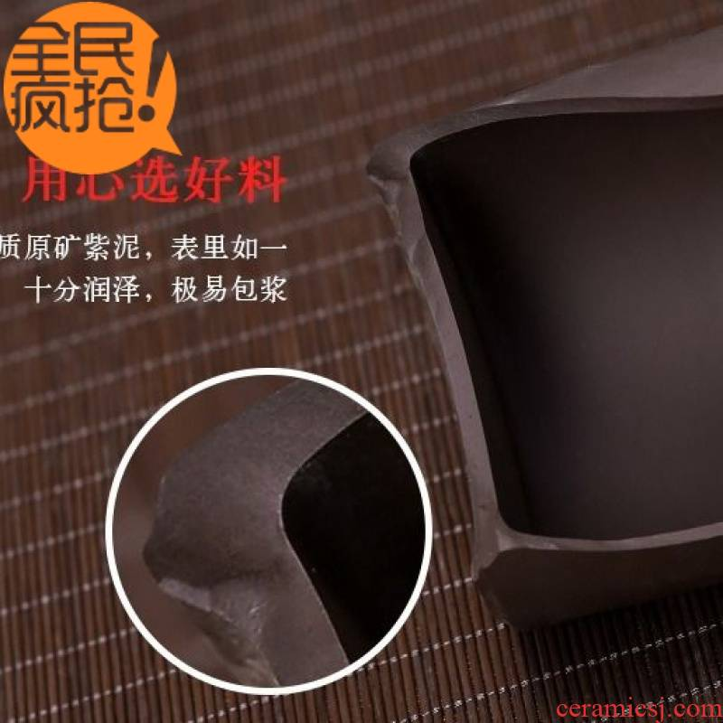 Hui shi purple sand cup with cover tea cup run of mine ore checking ceramic office kung fu tea cups