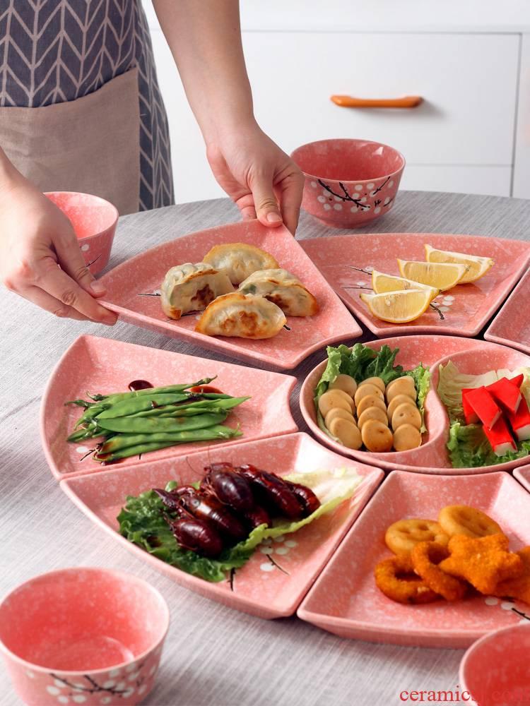 Jingdezhen ceramic 0 creative Japanese snack food put the home to eat hot pot platter tableware portfolio