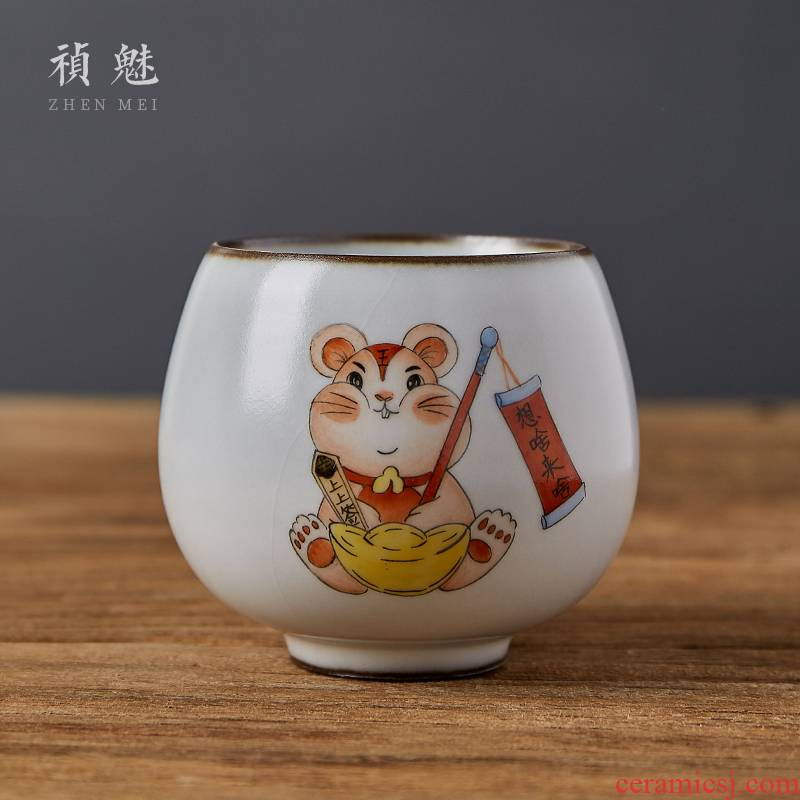 Jingdezhen checking ceramic cups all your up open piece of kung fu tea set sample tea cup for its ehrs masters cup personal single CPU