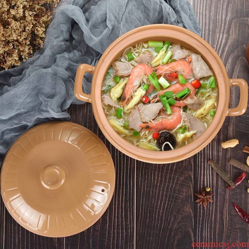 The An earthenware pot soup stew household gas flame ceramic casserole gas buner for high temperature resistant soup pot cooking porridge boil soup