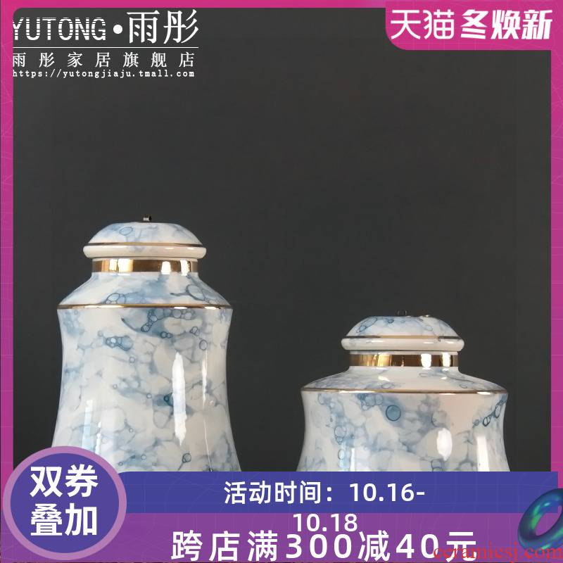 I and contracted ceramic flower vases creative ceramics plated gold and home furnishing articles sitting room