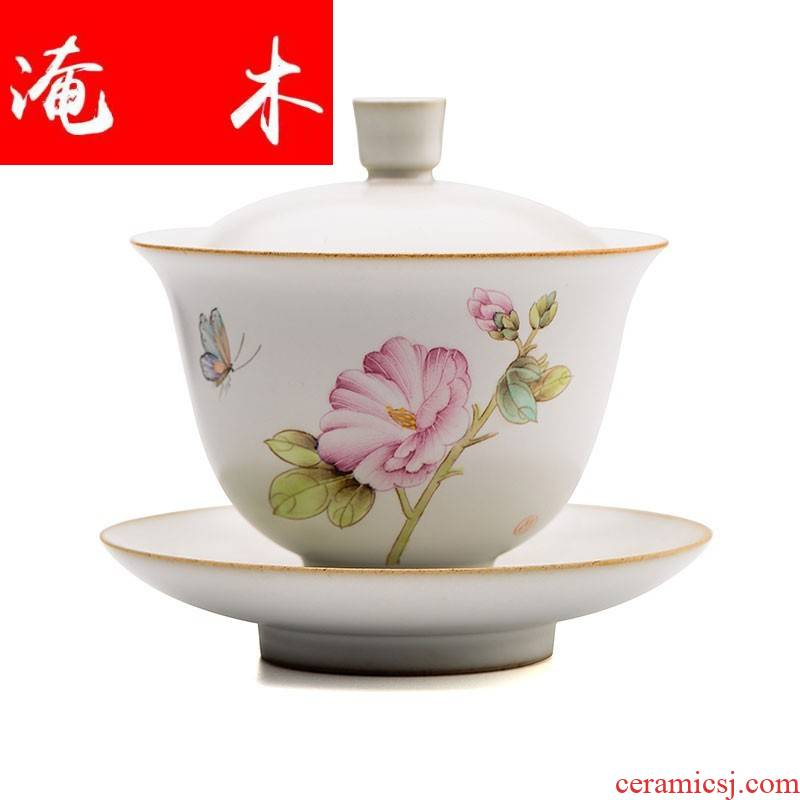 Flooded your up hand - made large wood piece only three tureen tea cups to leave but a jingdezhen checking ceramic bowl