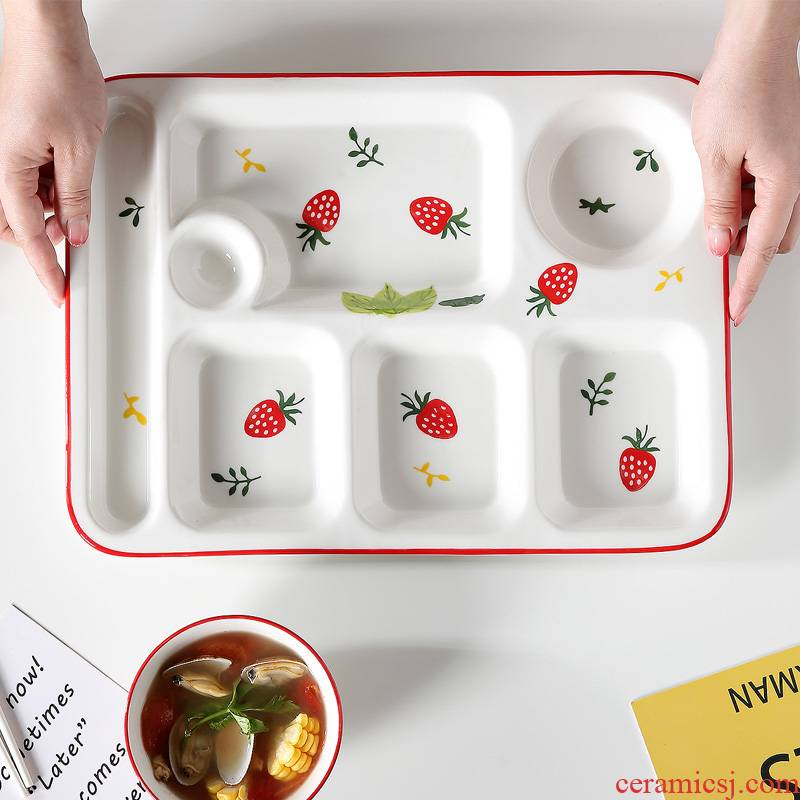 Ceramic cent eat dish home dish dish dish creative lovely children means separated FanPan adult snack plate tableware
