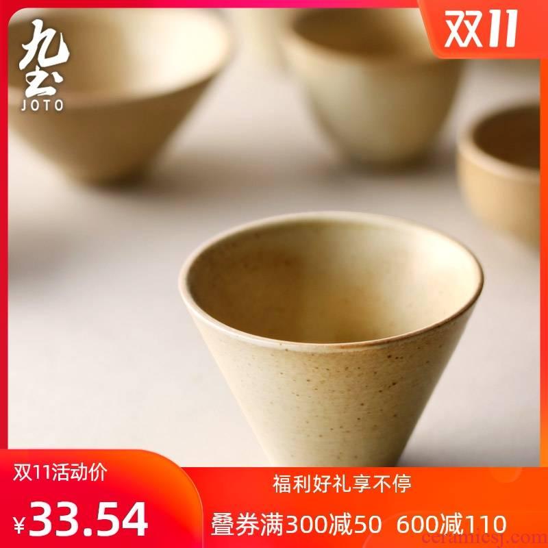 About Nine Japanese soil sample tea cup jingdezhen ceramic coarse pottery small master cup single CPU zen kung fu tea tea cups