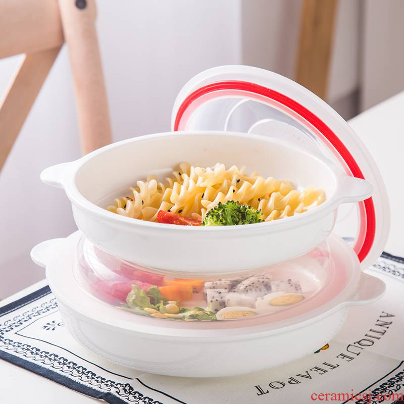View the best home round ears ceramic fresh food dish microwave oven dish 8 inches refrigerators receive a cassette