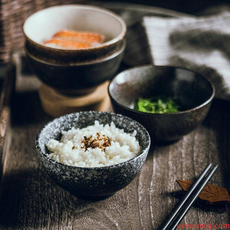 "The Japanese rice bowls of household kitchen retro ceramic bowl of beef noodles in soup bowl 4.5 ""creative Japanese small dishes dishes"