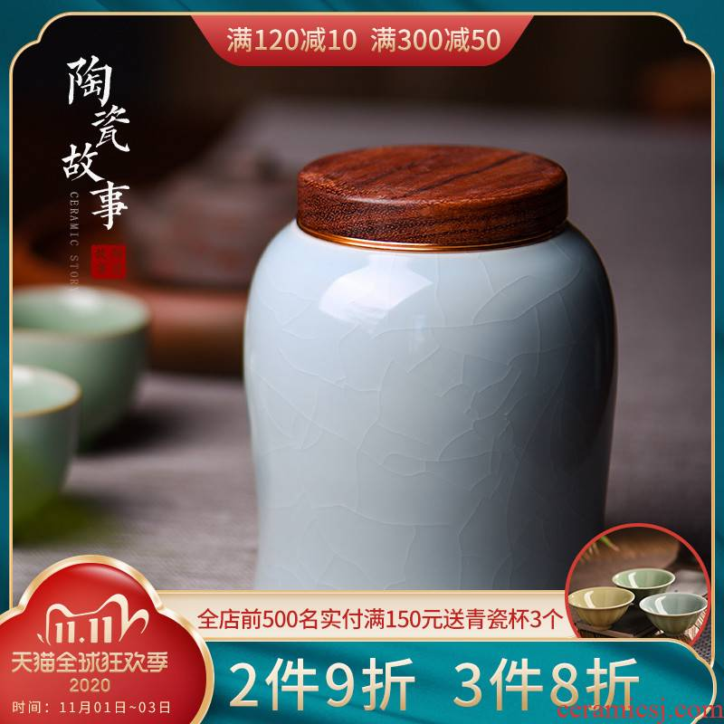 Ceramic cover story caddy fixings misspellings household storage puer tea to receive a wake receives Ceramic sealed jar