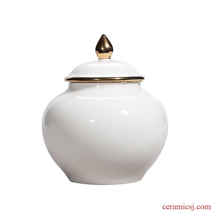 Shadow at dehua white porcelain tea pot ceramic POTS kung fu tea set storage accessories household store content box LY POTS of tea storehouse