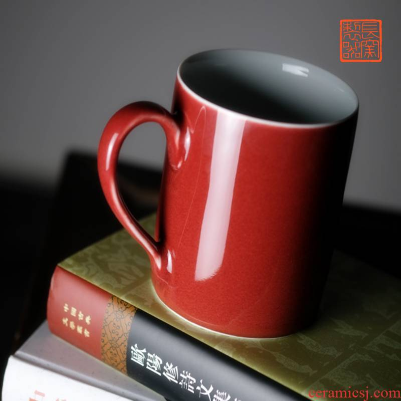 Long up system, implement the red keller office tea cup large capacity of jingdezhen ceramic cups tea by hand
