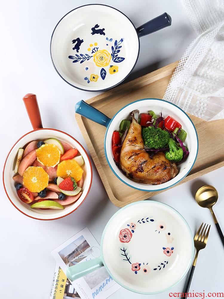 "8 ""the handle for the job with the ceramic creative baking bowl of rice bowls bowl bowl of fruit salad bowl of salad for breakfast"