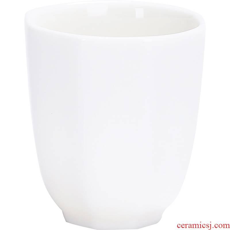 Kung fu master cup tea cup ceramic cups sample tea cup white porcelain tea set single CPU manually octagon cup 055