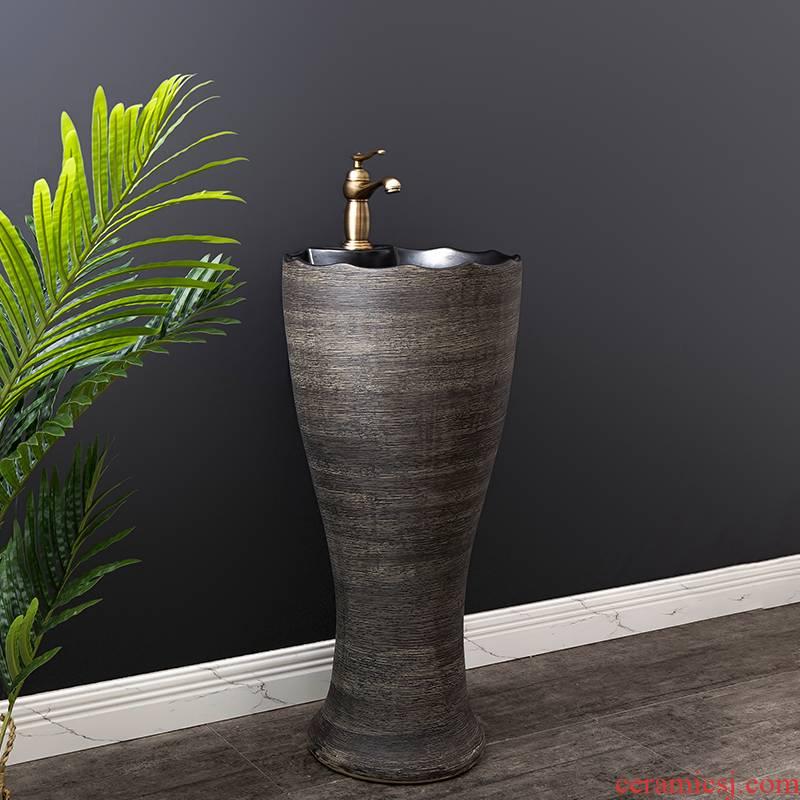 Ceramic basin floor balcony is suing the lavatory retro column pillar household toilet lavabo