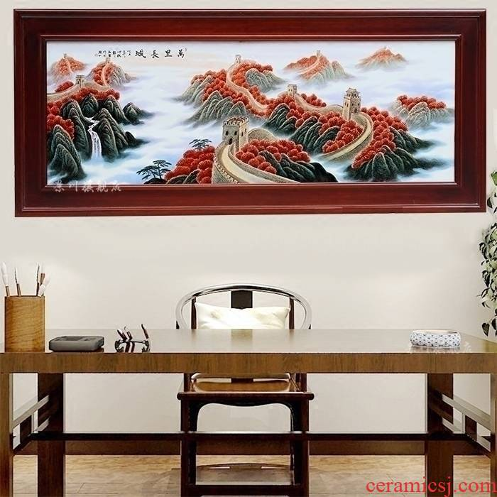 Jingdezhen ceramic painting hand - made wall adornment porcelain plate painting the living room a study background wall Chinese hang a picture