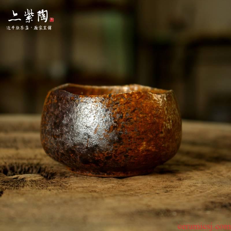 Also the purple pottery tea tea firewood up, masters cup coarse pottery teacup kung fu tea set yixing purple sand small bowl