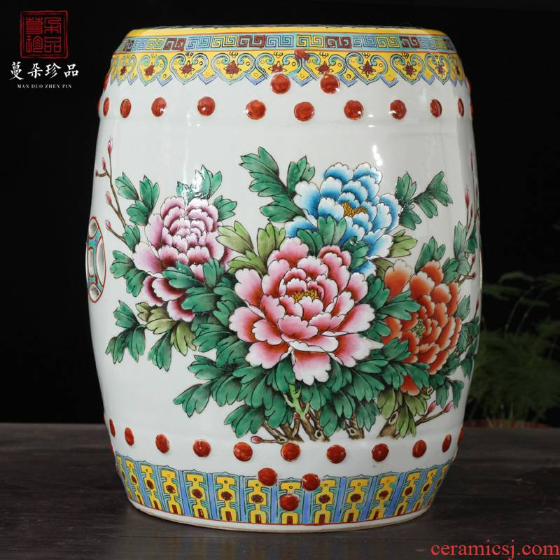 Hand made peony porcelain who famille rose porcelain who gorgeous riches and honor peony porcelain who