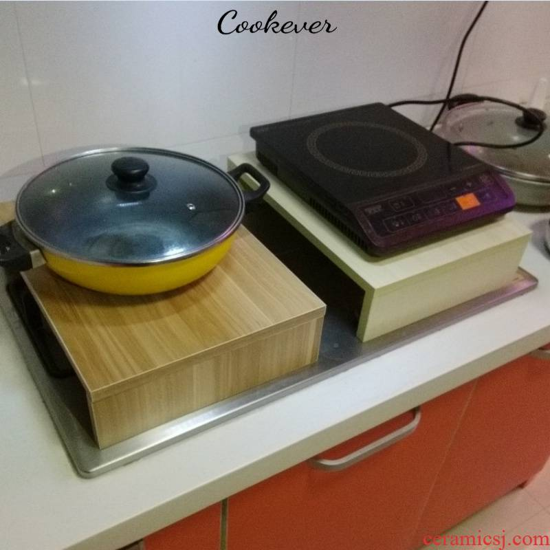 Gas buner induction cooker on shelf kitchenware base hearth shelf bracket kitchen'm Gas cover cover the table