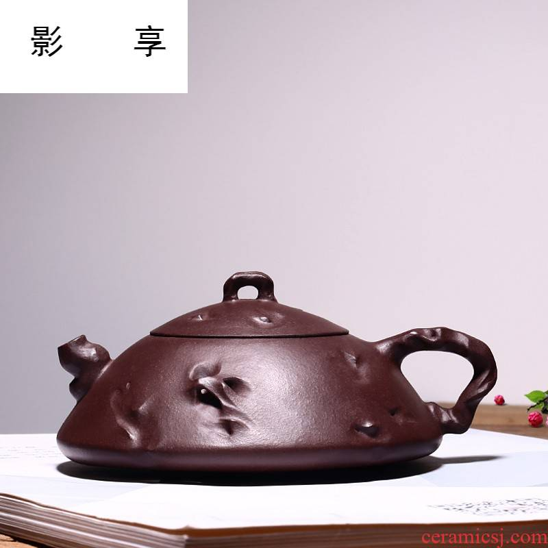 Shadow at yixing famous checking out little it undressed ore purple clay taihu stone gourd ladle suit HNYY the teapot