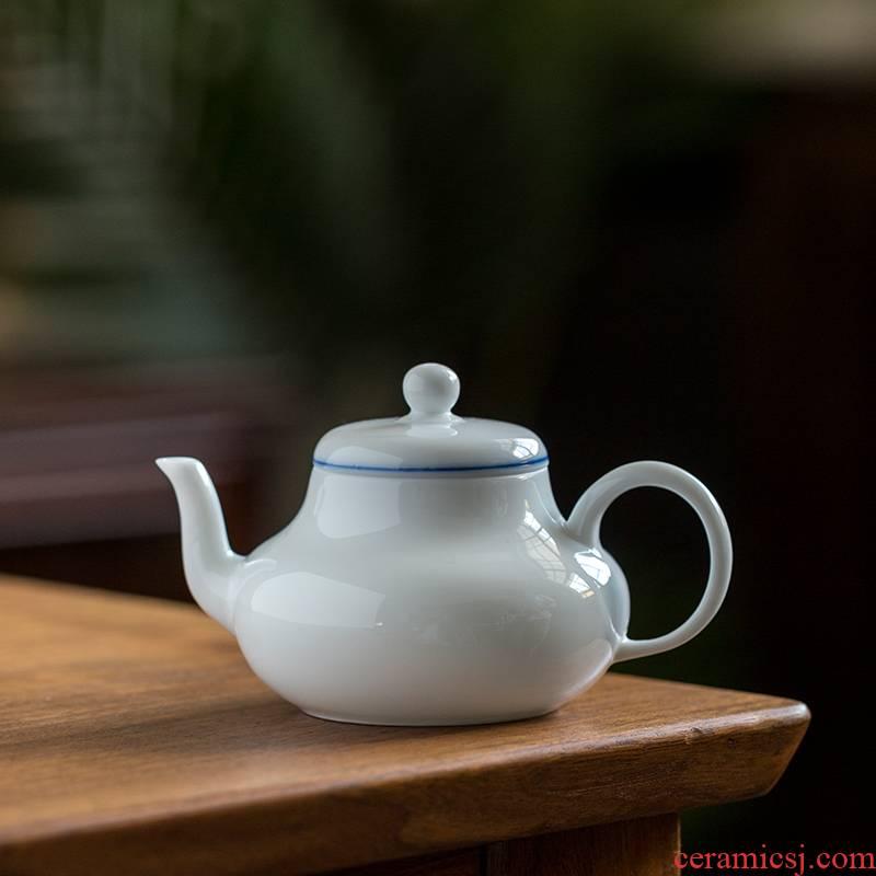 Ultimately responds white porcelain teapot teapot to household single pot small filter ceramic kung fu tea teapot large manually