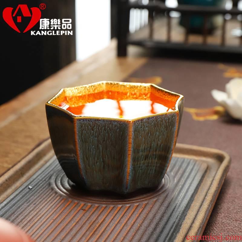 Recreation article 24 k gold 24 k gold master cup tea set built light violet arenaceous manual jingdezhen konoha tea cups
