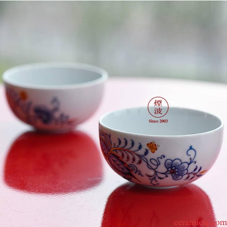 German mason mason meisen porcelain hand - made of golden onion kung fu tea sets sample tea cup tea cups