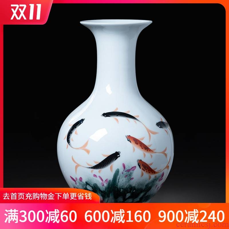 Jingdezhen ceramics hand - made pastel for successive years the vase the new Chinese style household flower arrangement sitting room adornment is placed