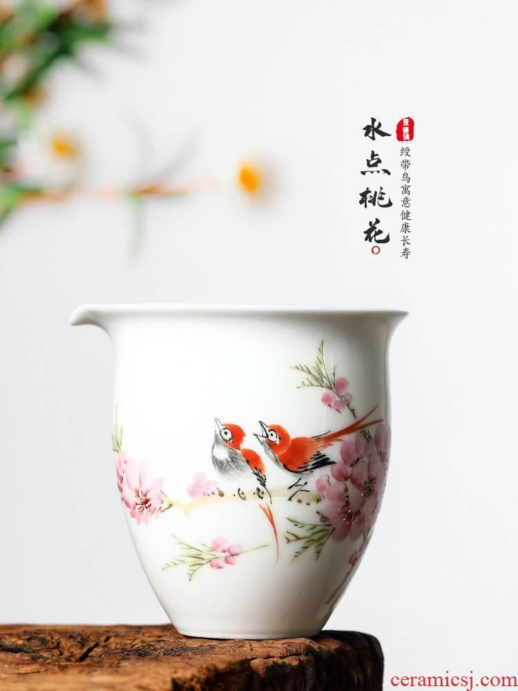 Xu, Jiaxing hand - made water at peach blossom put jingdezhen ceramic fair keller kung fu tea accessories tea is tea in the cup