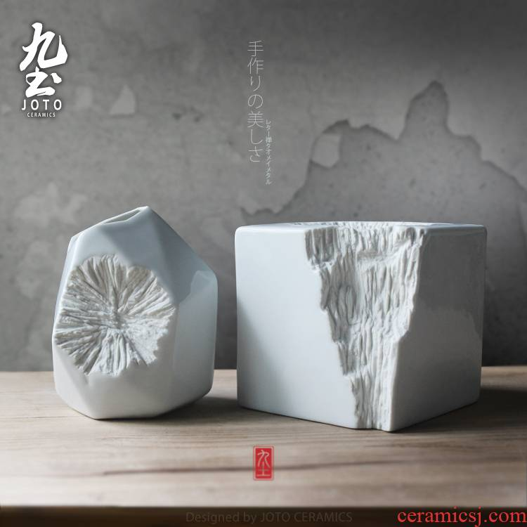 I and contracted furnishing articles about nine soil fashion boreal Europe style decoration creative flower cut, ceramics, home furnishing articles